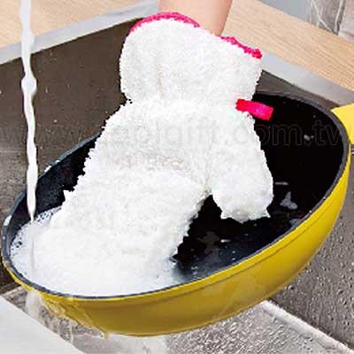 竹纖維防水洗碗手套