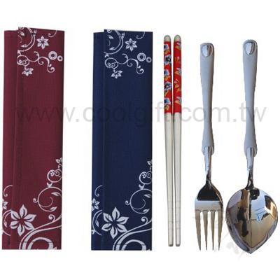 折疊布包三件式餐具組