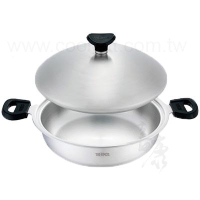 THERMOS 膳魔師健康原味鍋系列-雙耳平底鍋28cm(K22A-F28)