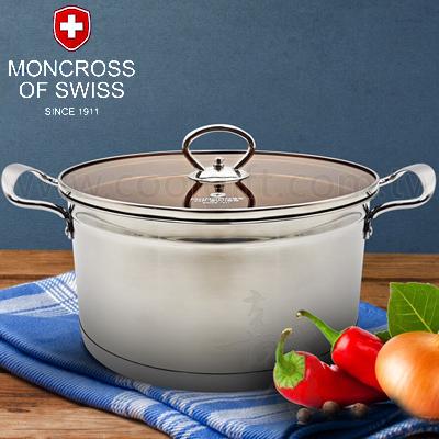 瑞士MONCROSS不鏽鋼琥珀湯鍋24cm