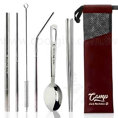 飛狼CAMP不鏽鋼吸管餐具6件組