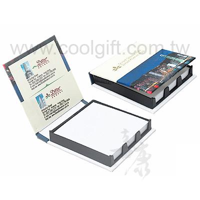 實用硬封面便條紙盒