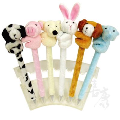 可愛動物絨毛原子筆