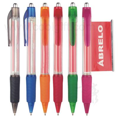 彩色筆管拉紙原子筆