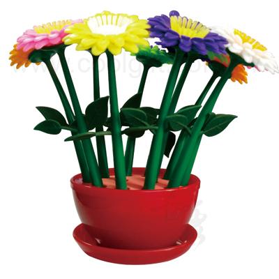花朵盆栽原子筆組