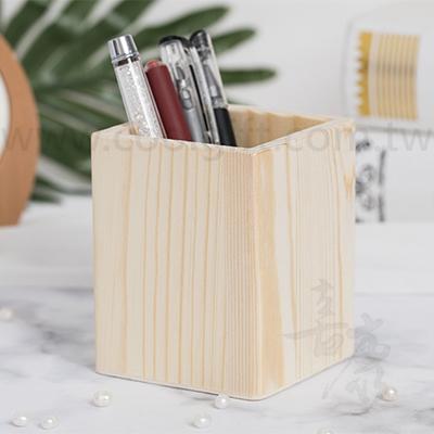 簡約木質筆筒