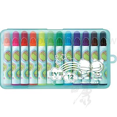 12色塗鴉彩色筆盒裝