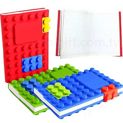 樂高積木式樣DIY筆記本