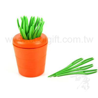 創意蘿蔔造型水果叉