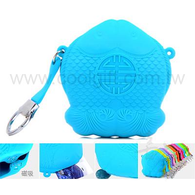 福魚零錢包-鑰匙包