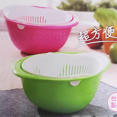 不倒翁雙層蔬果濾水籃(台灣製)
