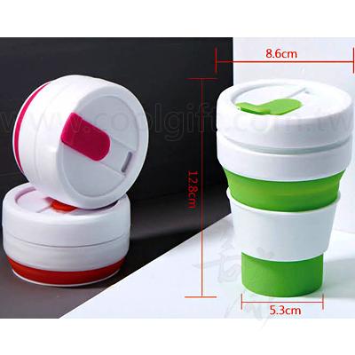 隨身矽膠摺疊咖啡杯350ml