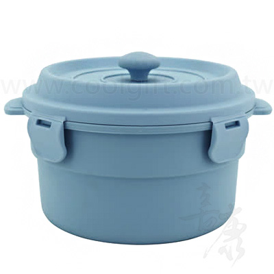 塑膠內膽鑄鐵鍋造型餐盒