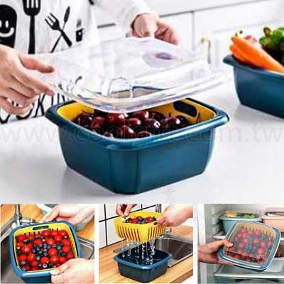實用瀝水籃保鮮盒