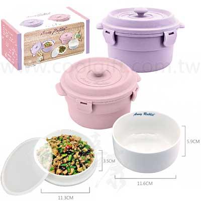 塑膠內膽鑄鐵鍋造型餐盒2入組