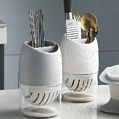 廚房餐具硅藻土瀝水收納筒