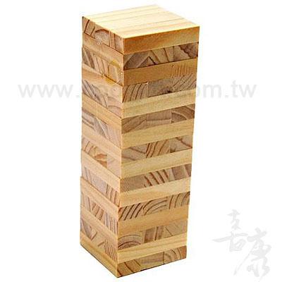 益智童玩原木疊疊高積木(小號)