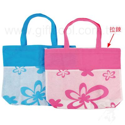 不織布環保拉鍊購物袋