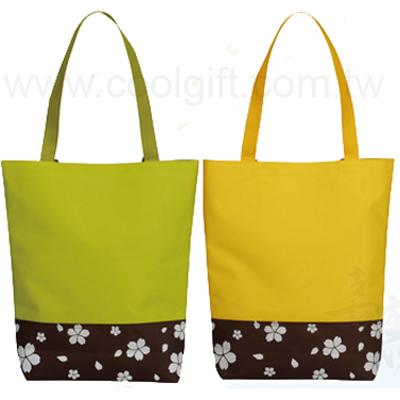 日式花漾雙色提袋