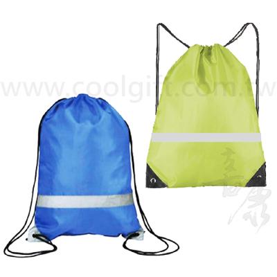 運動尼龍反光束口背袋