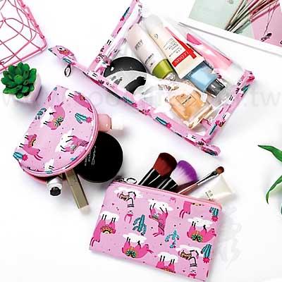 粉嫩化妝包三件套組