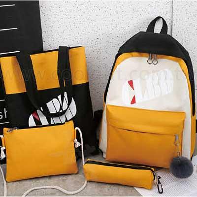 四件式學生後背包