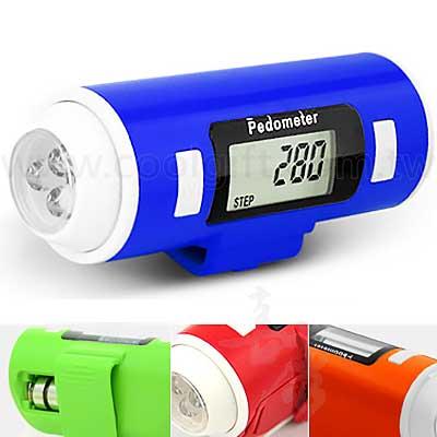 LED手電筒腰夾式計步器