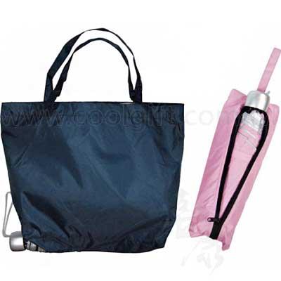 三折傘附折疊購物袋