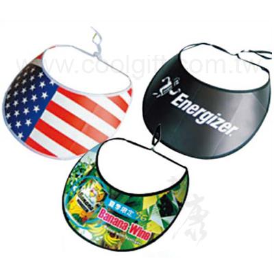 折疊式UV廣告遮陽帽