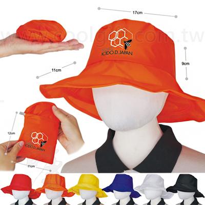 防水遮陽口袋寬圓帽