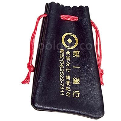 皮革紅繩束口袋(大)