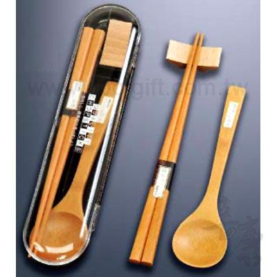 木質便攜筷盒組