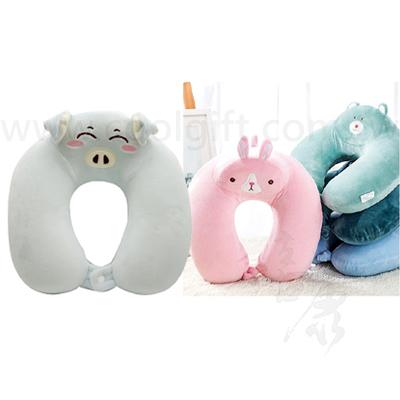 可愛動物記憶棉U型枕