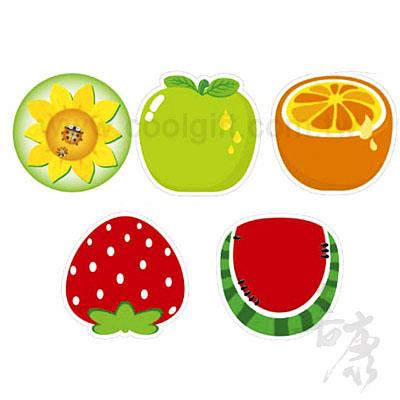 可愛水果造型杯墊