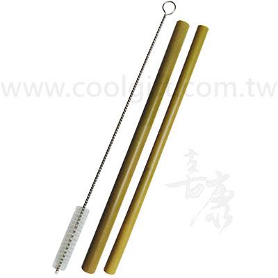 環保竹製吸管3件式