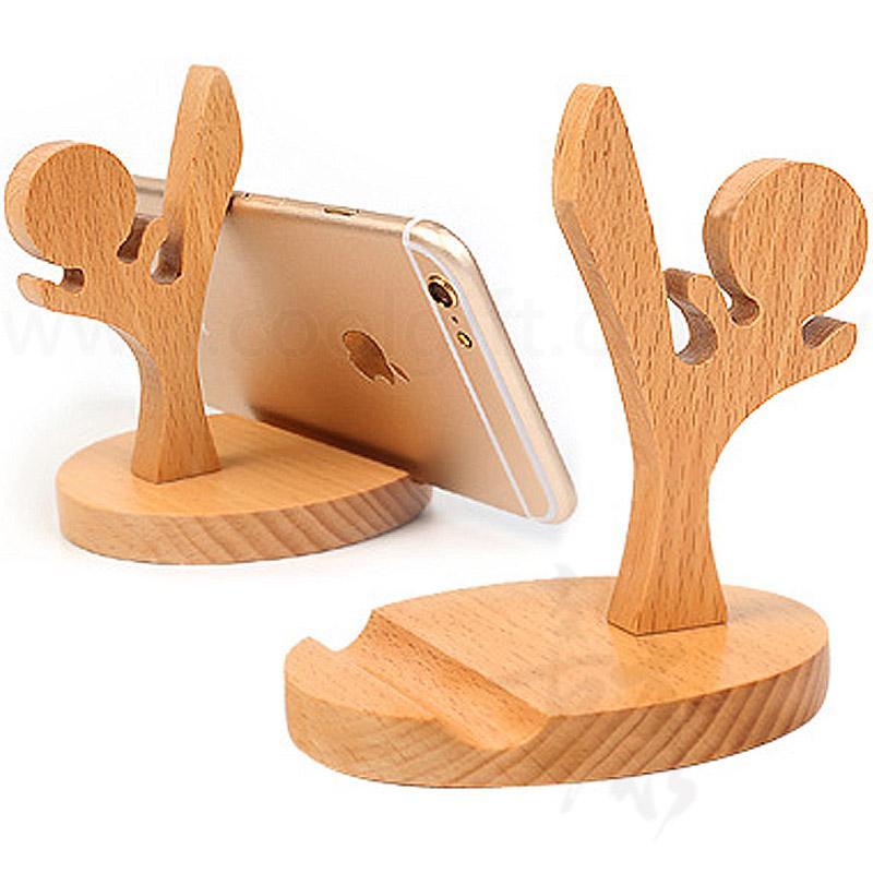跆拳造型櫸木手機平板支架