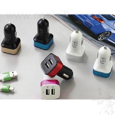 雙USB孔車用充電器