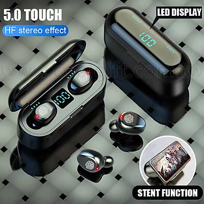 LED觸控顯示藍牙5.0迷你耳機