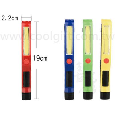 LED燈筆夾式磁鐵手電筒