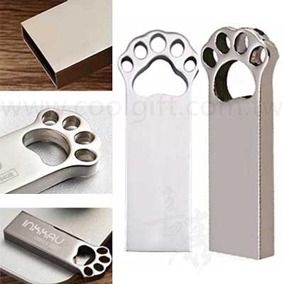 可愛金屬貓爪隨身碟