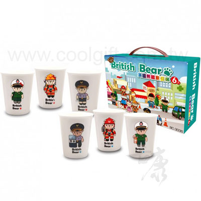 英國熊陶瓷水杯(6入)
