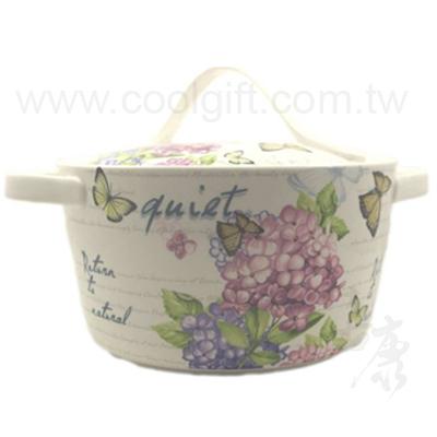 蝴蝶瓷蓋湯鍋3.2L