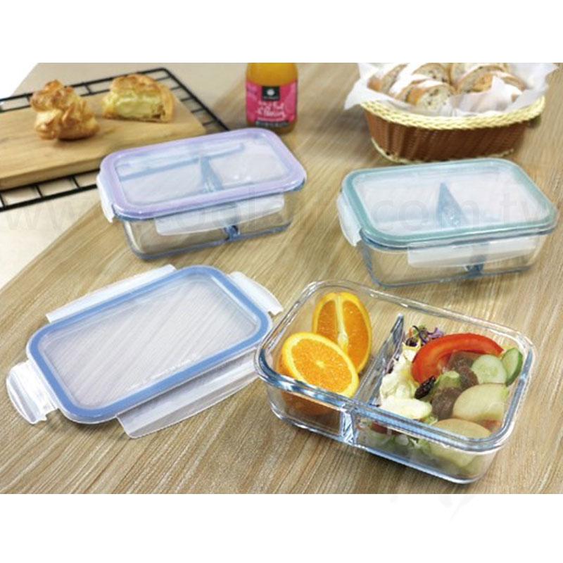 實用分隔耐熱玻璃保鮮盒(台灣製)