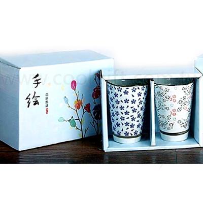 日式手繪陶瓷杯-2入