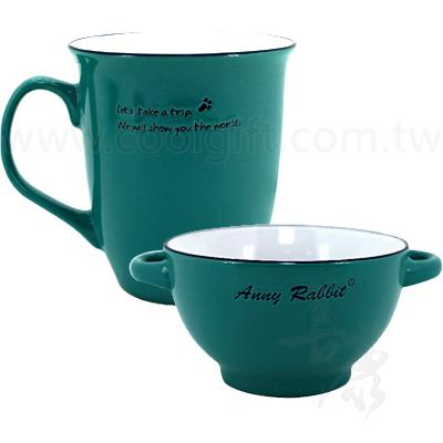 蔚藍陶瓷咖啡杯碗組