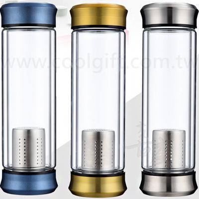 簡約金屬雙層玻璃瓶300ml/400ml
