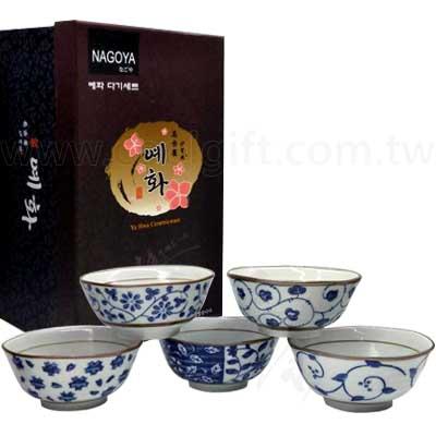 花系列陶瓷碗5入禮盒