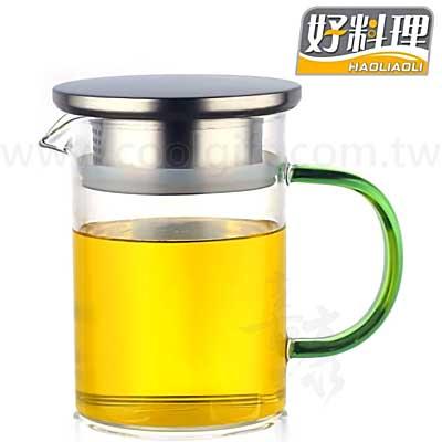 時尚耐熱玻璃濾茶泡茶壺