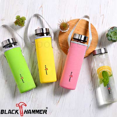 BLACK HAMMER晶透耐熱玻璃水瓶630ml
