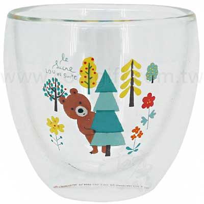 熊熊雙層玻璃杯245ml